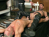 Submissive German guy tortured with hot wax