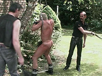 Outdoor handling and a big candle in the ass