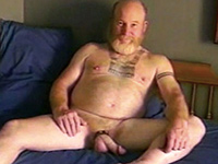 Bearded daddy rubbing his big rod