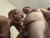 Esteban's Older Gay Cock Serviced By Murray's Mouth And Ass
