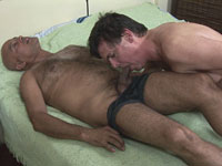 Sucking and fucking an older gay daddy cock