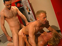 Double fun in the changing room